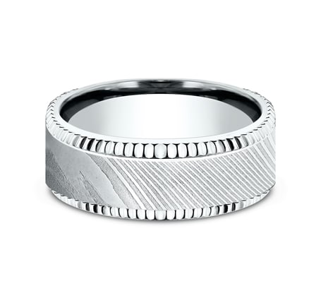 CF348527DSW P3 - WHITE GOLD 8MM  DESIGN BAND CF348527DSW