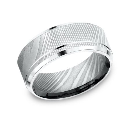 CF69486DS P1 - 9MM DAMASCUS  STEEL GOLD BAND CF69486DS