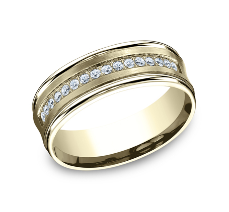 CF717593Y P1 - 7.5MM  YELLOW GOLD DIAMOND BAND CF717593Y
