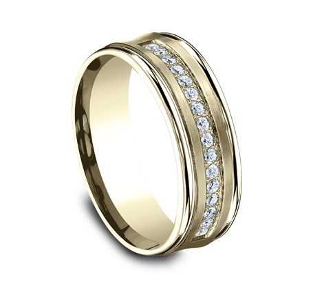 CF717593Y P2 - 7.5MM  YELLOW GOLD DIAMOND BAND CF717593Y