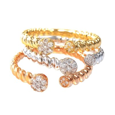 CR3549PWY 1 - BOVA SIGNATURE  - 14K DIAMOND 0.09CT STACKABLE BANDS - CR3549