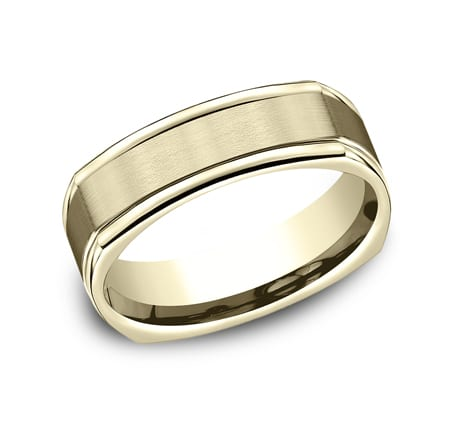 EURECF7702SY P1 - YELLOW GOLD 7MM  COMFORT-FIT DESIGN BAND EURECF7702SY