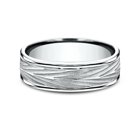 RECF77337W P3 - 7MM WHITE GOLD  BAND RECF77337Y