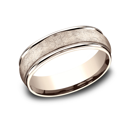 RECF86585R P1 - 6.5 MM  ROSE GOLD BAND