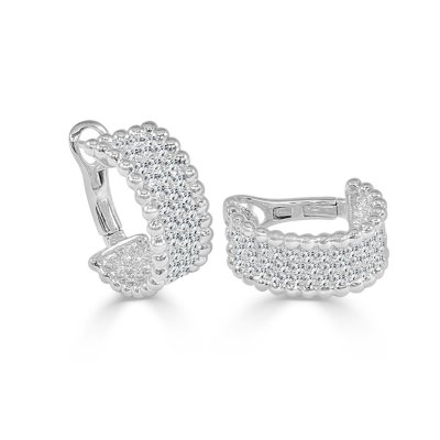 SE10695RW2 - BOVA SIGNATURE -18K WHITE GOLD DIAMOND D1.63CT EARRINGS ( AVAILABLE IN ROSE GOLD AND YELLOW GOLD) - SE10695R