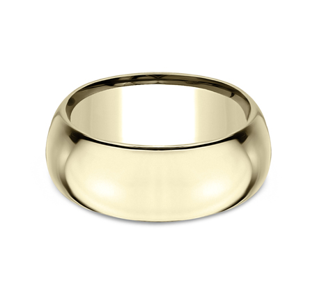 10MM YELLOW GOLD BAND HDCF1100Y 2 - 10MM YELLOW GOLD BAND HDCF1100Y