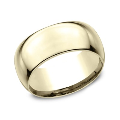 10MM YELLOW GOLD BAND HDCF1100Y - 10MM YELLOW GOLD BAND HDCF1100Y