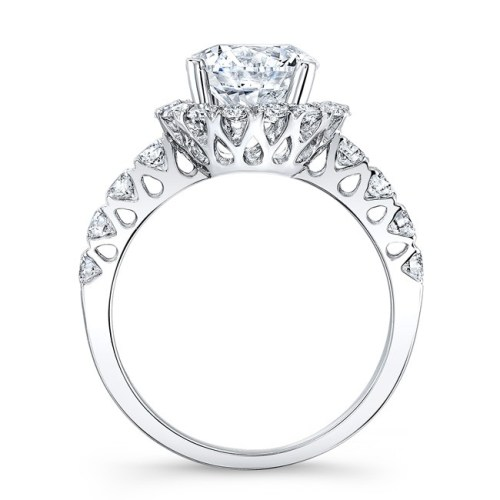18K WHITE GOLD DIAMOND ENGAGEMENT RING WITH CUTOUTS NK33411ATD W 1 - 18K WHITE GOLD DIAMOND ENGAGEMENT RING WITH CUTOUTS NK33411ATD-W