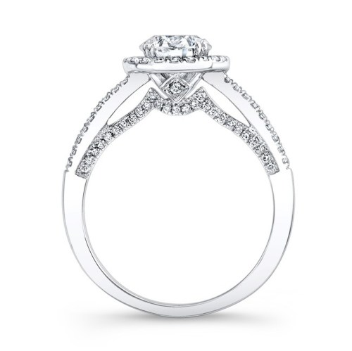 18K WHITE GOLD DOUBLE PITCH GALLERY DIAMOND HALO ENGAGEMENT RING FM27026 18W 1 - 18K WHITE GOLD DOUBLE PITCH GALLERY DIAMOND HALO ENGAGEMENT RING FM27026-18W