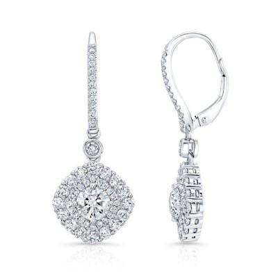 18K WHITE GOLD FOREVERMARK® DIAMOND EARRINGS FM31777 18W - 18K WHITE GOLD FOREVERMARK® DIAMOND EARRINGS FM31777-18W