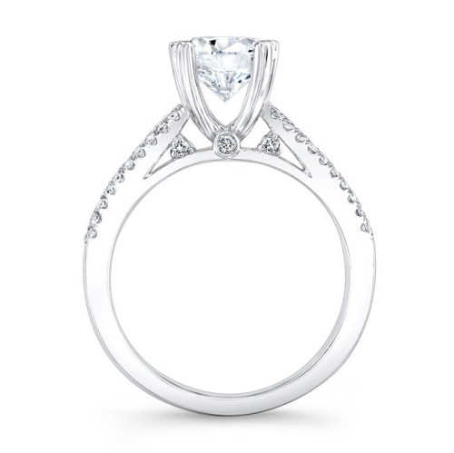 18K WHITE GOLD PRONG AND CHANNEL ROUND DIAMOND ENGAGEMENT RING NK19002 W 1 - 18K WHITE GOLD PRONG AND CHANNEL ROUND DIAMOND ENGAGEMENT RING NK19002-W