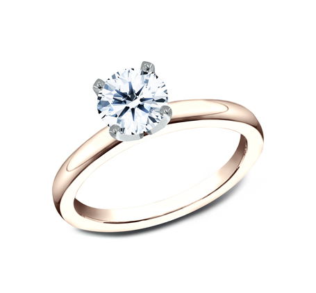 2.5MM ROSE GOLD SOLITAIREL ENGAGEMENT RING LCBSA LHRD100 R - 2.5MM ROSE GOLD SOLITAIREL ENGAGEMENT RING LCBSA-LHRD100-R