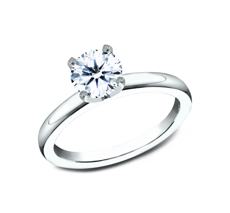 2.5MM WHITE GOLD BASIC SOLITAIREL ENGAGEMENT RING - 2.5MM WHITE GOLD BASIC SOLITAIREL ENGAGEMENT RING LCBSA-LHRD100-W