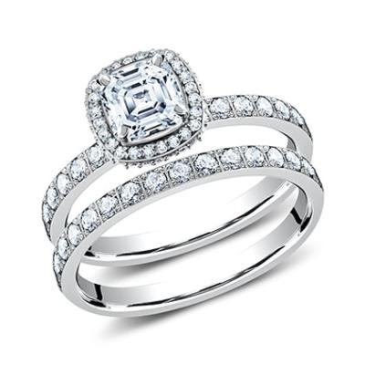 2MM PLATINUM PAVE SET ENGAGEMENT SET LCPA2 CSHSET PT - 2MM PLATINUM PAVE SET ENGAGEMENT SET LCPA2-CSHSET-PT