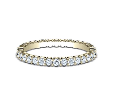 2MM SHARED PRONG ETERNITY DIAMOND BAND 552623Y 2 - 2MM SHARED PRONG ETERNITY DIAMOND BAND 552623Y