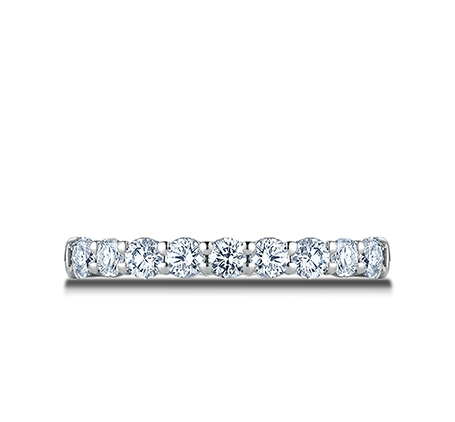 3MM PLATINUM CRESCENT SHARED PRONG DIAMOND BAND 5935643R 2 - 3MM PLATINUM CRESCENT SHARED PRONG DIAMOND BAND 5935643R