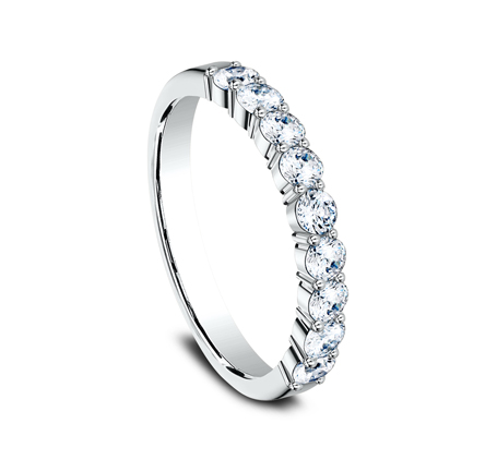 3MM PLATINUM SHARED PRONG DIAMOND BAND 5535922PT 1 - 3MM PLATINUM SHARED PRONG DIAMOND BAND 5535922PT
