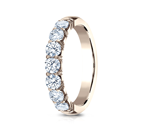 3MM ROSE GOLD CRESCENT SHARED PRONG DIAMOND BAND 5935645R 1 - 3MM ROSE GOLD CRESCENT SHARED PRONG DIAMOND BAND  5935645R