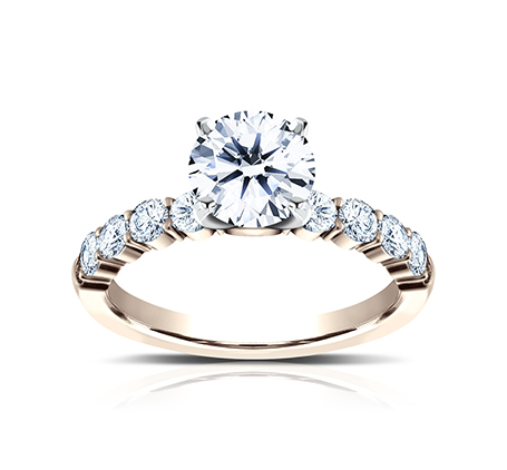 3MM ROSE GOLD SHARED PRONG ENGAGEMENT RING SPA8 LHRD100 R 1 - 3MM ROSE GOLD SHARED PRONG ENGAGEMENT RING SPA8-LHRD100-R