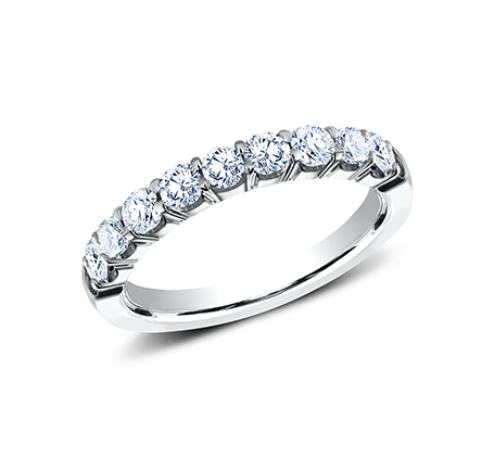 3MM WHITE GOLD CRESCENT SHARED PRONG DIAMOND BAND 5935643W - 3MM WHITE GOLD CRESCENT SHARED PRONG DIAMOND BAND 5935643W