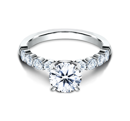 3MM WHITE GOLD SHARED PRONG ENGAGEMENT RING SPA8 LHRD100 W 1 - 3MM WHITE GOLD SHARED PRONG ENGAGEMENT RING SPA8-LHRD100-W