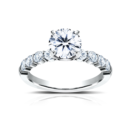 3MM WHITE GOLD SHARED PRONG ENGAGEMENT RING SPA8 LHRD100 W 2 - 3MM WHITE GOLD SHARED PRONG ENGAGEMENT RING SPA8-LHRD100-W