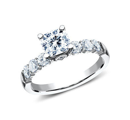 3MM WHITE GOLD SHARED PRONG ENGAGEMENT SET SPA11 ACSET W 1 - 3MM WHITE GOLD SHARED PRONG ENGAGEMENT SET SPA11-ACSET-W