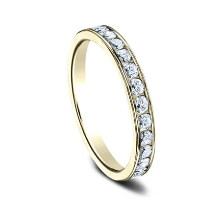 3MM YELLOW GOLD CHANNEL SET DIAMOND BAND 513525Y 1 - 3MM YELLOW GOLD CHANNEL SET DIAMOND BAND 513525Y