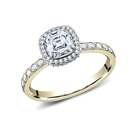 3MM YELLOW GOLD PAVE SET ENGAGEMENT SET LCPA2 CSHSET Y 1 - 3MM YELLOW GOLD PAVE SET ENGAGEMENT SET LCPA2-CSHSET-Y