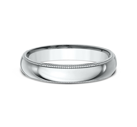 4MM WHITE GOLD COMFORT FIT BAND LCF340W 2 - 4MM WHITE GOLD COMFORT-FIT BAND LCF340W