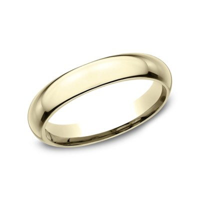4MM YELLOW GOLD BAND HDCF140Y - 4MM YELLOW GOLD BAND HDCF140Y