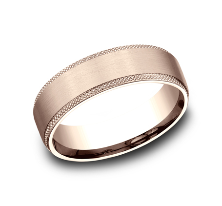 6.5MM ROSE GOLD COMFORT FIT BAND - 6.5MM ROSE GOLD COMFORT-FIT BAND CF4965749R