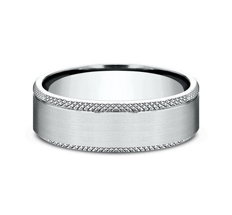 6.5MM WHITE GOLD COMFORT FIT BAND 2 - 6.5MM WHITE GOLD COMFORT-FIT BAND CF4965749W