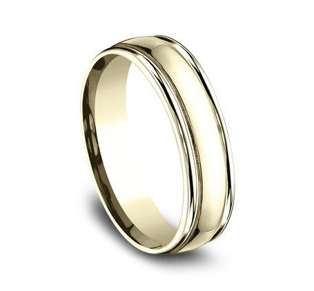 6MM COMFORT FIT HIGH POLISHED CARVED DESIGN BAND CF15608Y 1 - 6MM COMFORT-FIT HIGH POLISHED CARVED DESIGN BAND CF15608Y