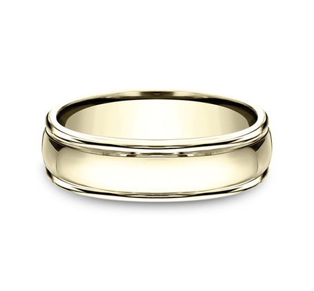 6MM COMFORT FIT HIGH POLISHED CARVED DESIGN BAND CF15608Y 2 - 6MM COMFORT-FIT HIGH POLISHED CARVED DESIGN BAND CF15608Y