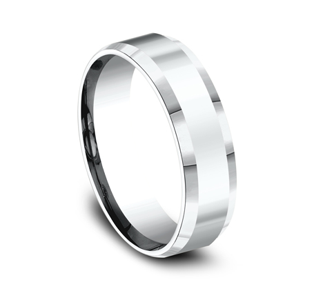 6MM COMFORT FIT HIGH POLISHED CARVED DESIGN BAND CF66426W 1 - 6MM COMFORT-FIT HIGH POLISHED CARVED DESIGN BAND CF66426W