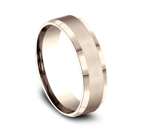 6MM COMFORT FIT SATIN FINISHED CARVED DESIGN BAND CF66416R 1 - 6MM COMFORT-FIT SATIN-FINISHED CARVED DESIGN BAND CF66416R