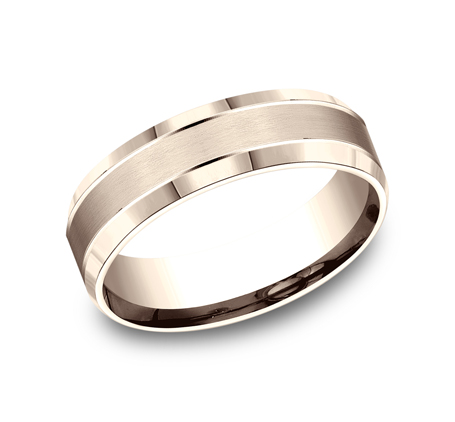 6MM COMFORT FIT SATIN FINISHED CARVED DESIGN BAND CF66436R - 6MM COMFORT-FIT SATIN-FINISHED CARVED DESIGN BAND CF66436R