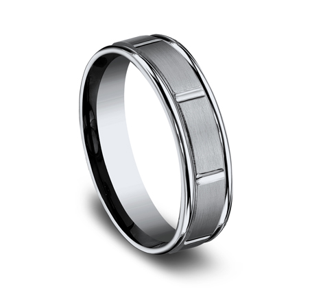 6MM TITANIUM BAND FEATURES A SATIN FINISHED RECF76452T 1 - 6MM TITANIUM BAND FEATURES A SATIN-FINISHED RECF76452T