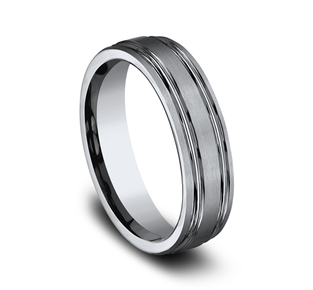 6MM TITANIUM COMFORT FIT SATIN FINISHED BAND CF56444T 1 - 6MM TITANIUM COMFORT-FIT SATIN-FINISHED BAND CF56444T