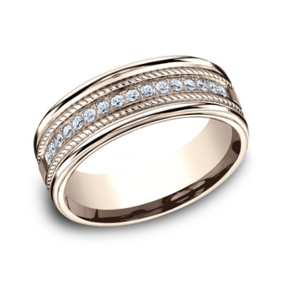7.5MM COMFORT FIT DIAMOND BAND CF717581R - 7.5MM COMFORT-FIT DIAMOND BAND CF717581R
