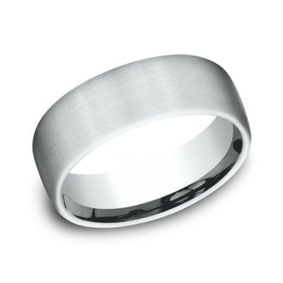 7.5MM COMFORT FIT SATIN FINISHED BAND CF717561W - 7.5MM COMFORT-FIT SATIN FINISHED BAND CF717561W