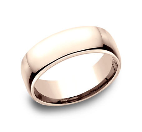 7.5MM ROSE GOLD CLASSY AND ELEGANT BAND EUCF175R - 7.5MM ROSE GOLD CLASSY AND ELEGANT BAND EUCF175R