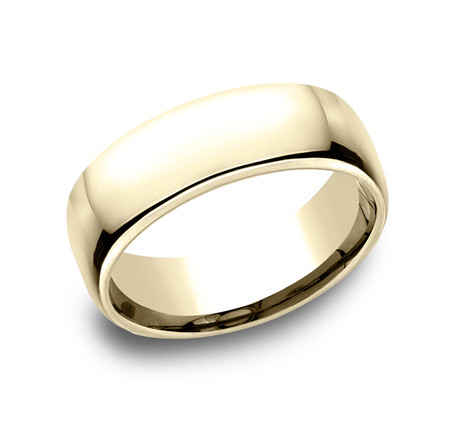 7.5MM YELLOW GOLD CLASSY AND ELEGANT BAND EUCF175Y - 7.5MM YELLOW GOLD CLASSY AND ELEGANT BAND EUCF175Y