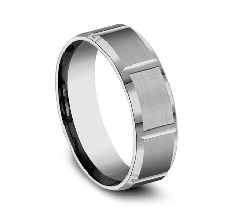 7MM COMFORT FIT SATIN FINISHED TUNGSTEN BAND CF67449TG 1 - 7MM COMFORT-FIT SATIN-FINISHED TUNGSTEN BAND CF67449TG