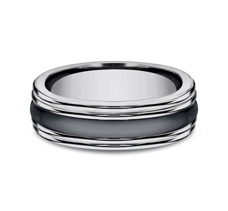 7MM COMFORT FIT TUNGSTEN BAND RECF77863CMTG 2 - 7MM COMFORT-FIT TUNGSTEN BAND RECF77863CMTG