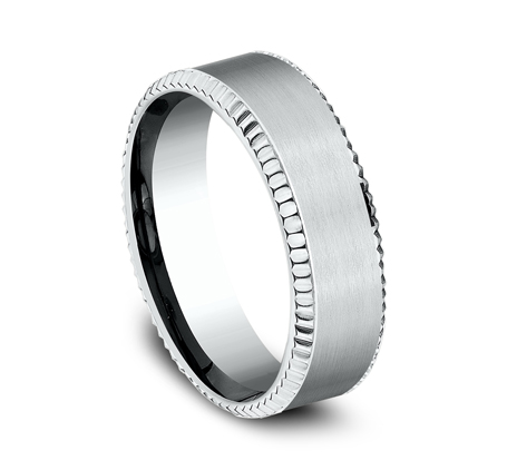 7MM COMFORT FIT WHITE GOLD BAND CF67527W 1 - 7MM COMFORT FIT WHITE GOLD BAND CF67527W