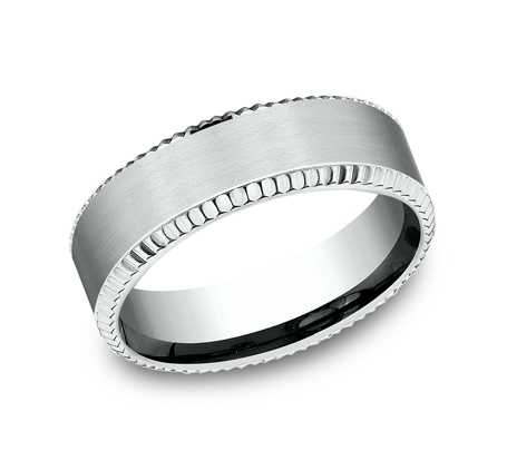 7MM COMFORT FIT WHITE GOLD BAND CF67527W - 7MM COMFORT FIT WHITE GOLD BAND CF67527W