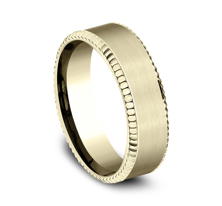 7MM COMFORT FIT YELLOW GOLD BAND CF67527Y 1 - 7MM COMFORT FIT YELLOW GOLD BAND CF67527Y