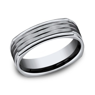 7MM TITANIUM COMFORT FIT FOUR SIDED BAND CF77334T - 7MM TITANIUM COMFORT-FIT FOUR-SIDED BAND CF77334T
